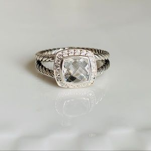 David Yurman Albion Ring White Tipaz Diamonds 8